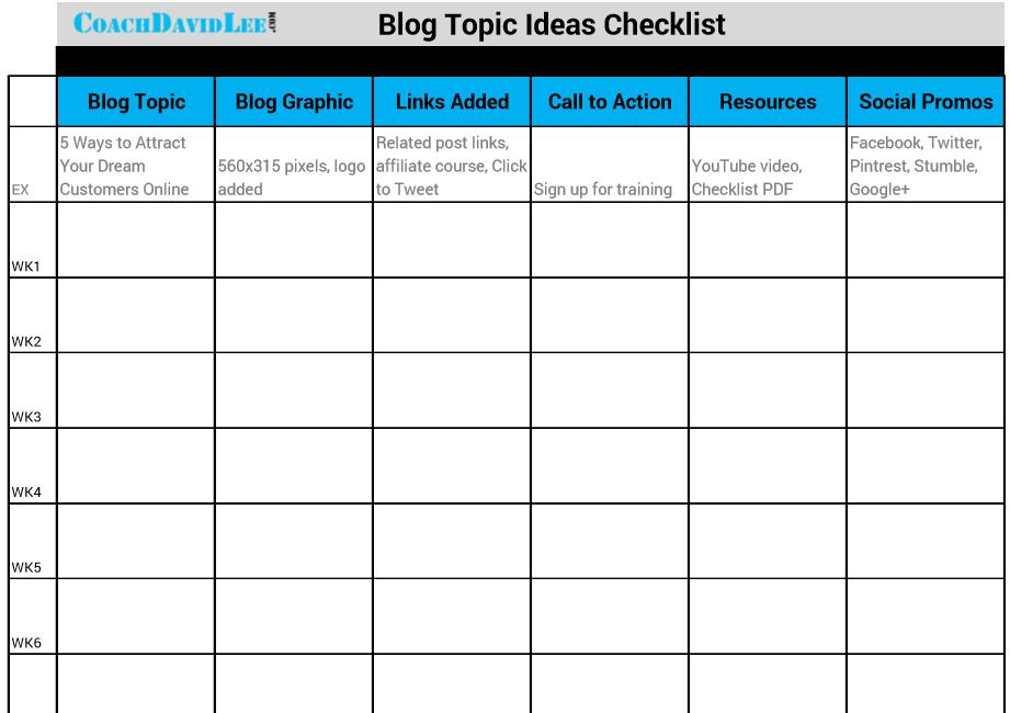 BlogPostIdeaGuideChecklist