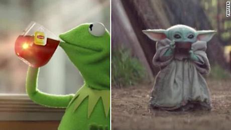 Baby Yoda Kermit Meme