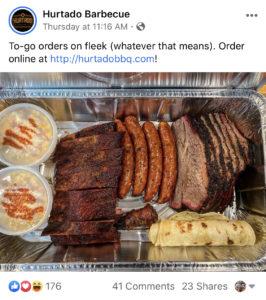 BBQ Restaurant Marketing Coronavirus